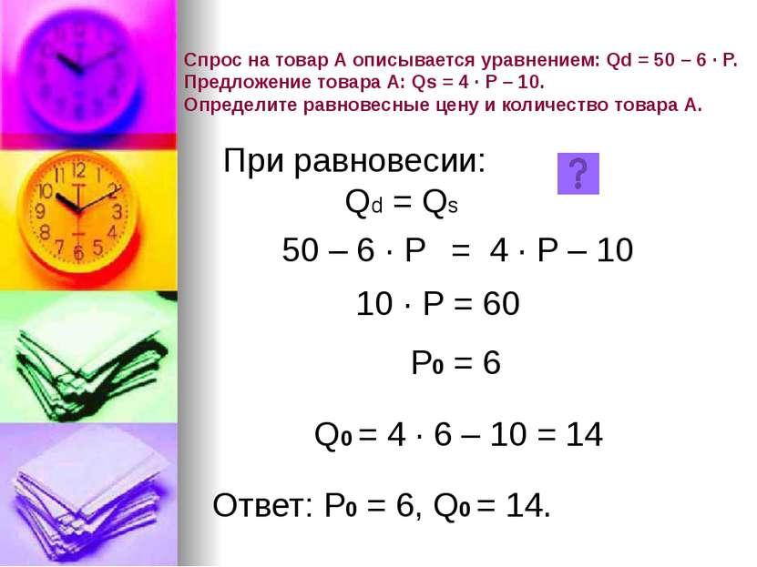 5 20 Р 2 8 Q 5 Р0 = 15 Q0 = 4 дефицит избыток