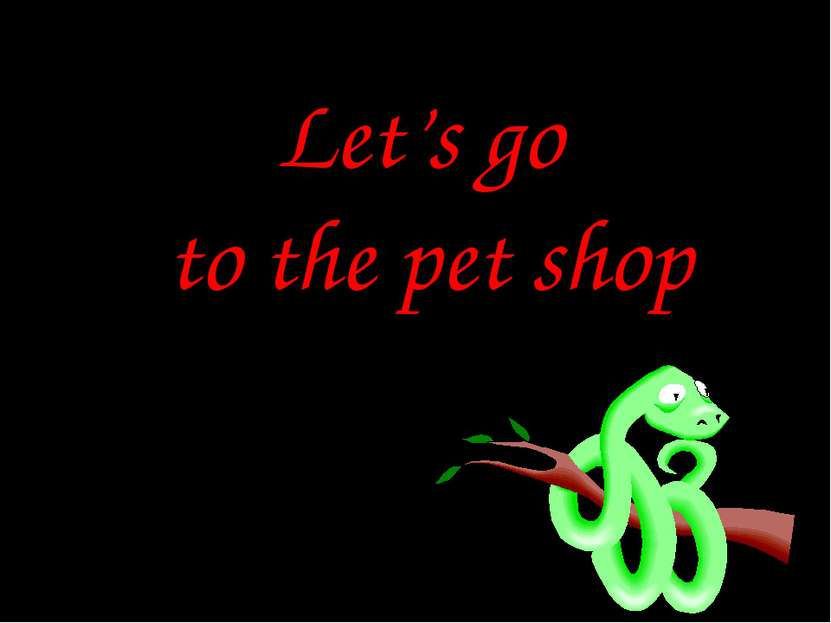 Let's go to the pet shop