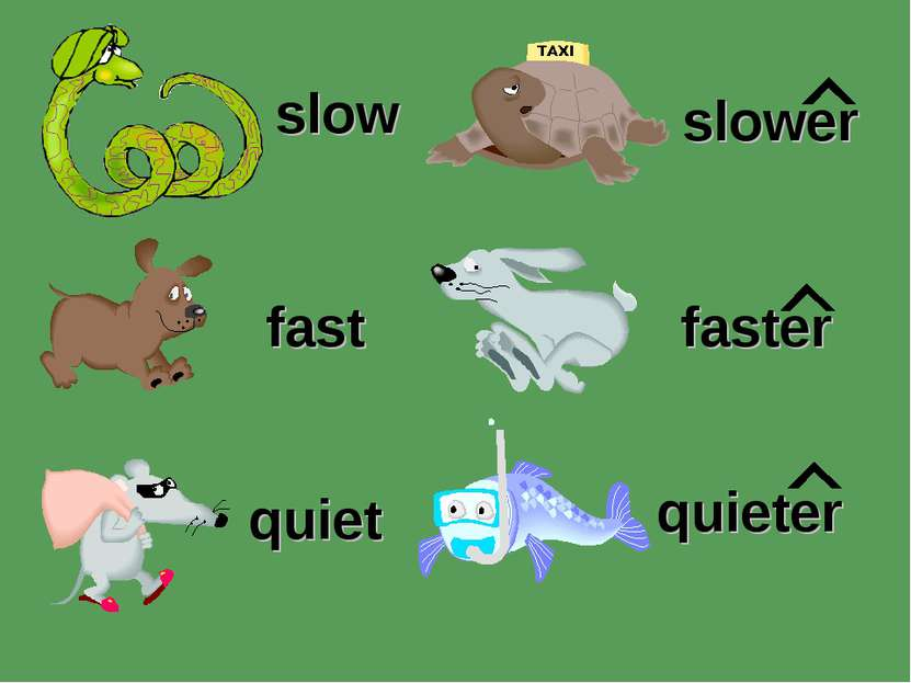 slow slower quiet faster fast quieter