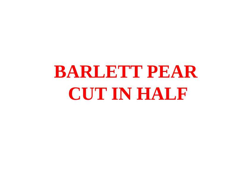 BARLETT PEAR CUT IN HALF