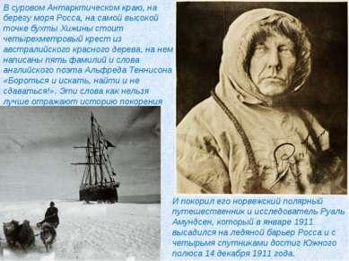 В суровом Антарктическом краю, на берегу моря Росса, на самой высокой точке б...