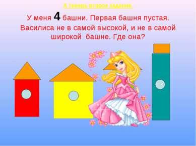 А теперь второе задание. У меня 4 башни. Первая башня пустая. Василиса не в с...