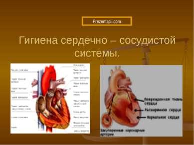 Гигиена сердечно – сосудистой системы.