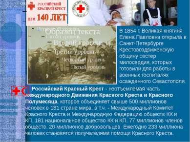 Российский Красный Крест - неотъемлемая часть международного Движения Красног...