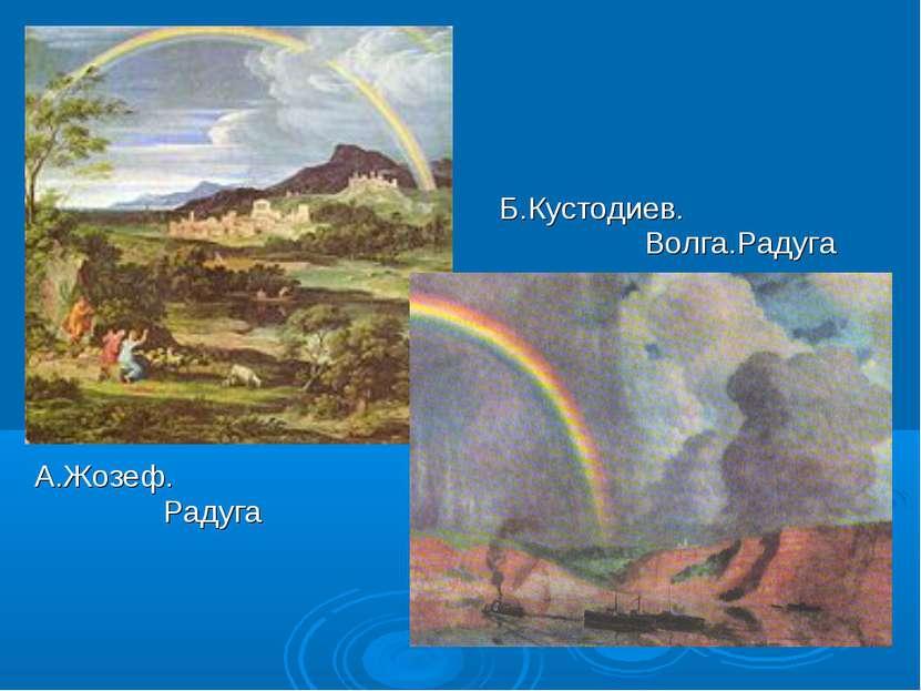 Б.Кустодиев. Волга.Радуга А.Жозеф. Радуга
