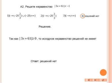 С1. Решите неравенство Решение. -5 2 + - + x ///////// ///////////// -1 4 + -...