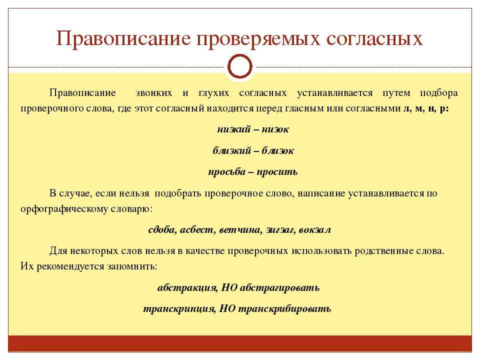 Правописание проверяемых согласных Правописание звонких и глухих согласных ус...