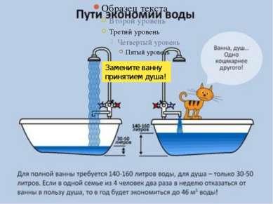Замените ванну принятием душа!