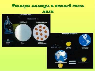 Размеры молекул и атомов очень малы