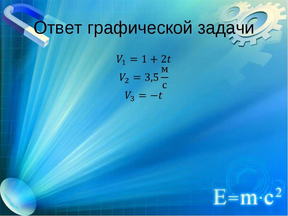 Ответ графической задачи