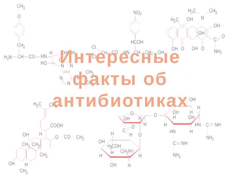 Интересные факты! Интересные факты об антибиотиках