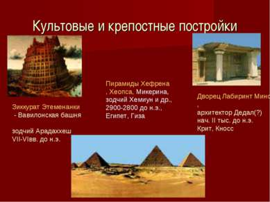 Культовые и крепостные постройки Дворец Лабиринт Минотавра, архитектор Дедал(...