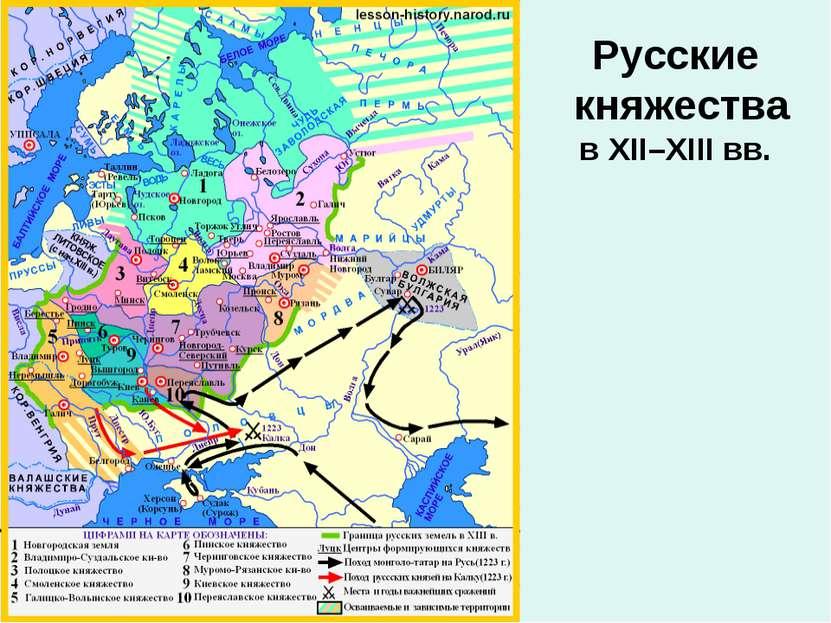 Русские княжества в XII–XIII вв.