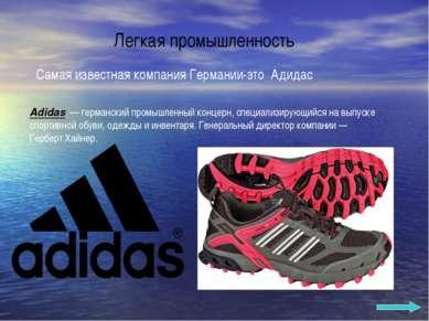 Легкая промышленность Adidas — германский промышленный концерн, специализирую...