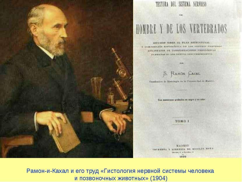 Рамон-и-Кахал и его труд «Гистология нервной системы человека и позвоночных ж...