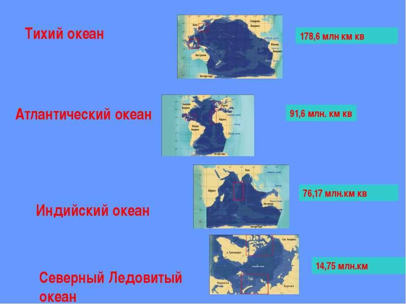 Тихий океан Составьте свою диаграмму « Площади океанов» Атлантический Индийск...