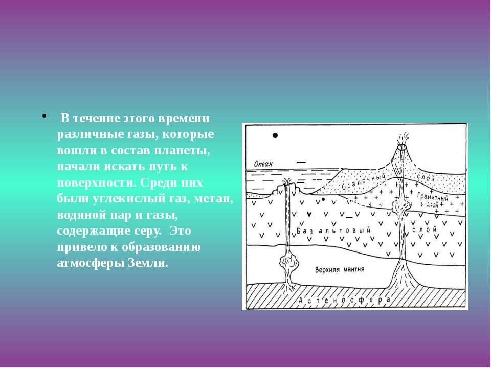 В течение этого времени различные газы, которые вошли в состав планеты, начал...