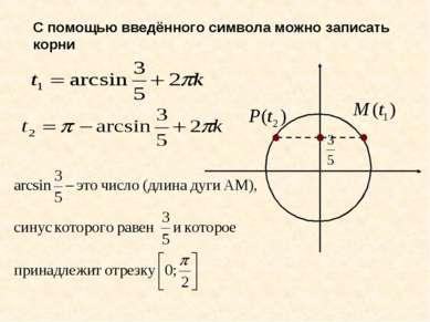 С помощью введённого символа можно записать корни