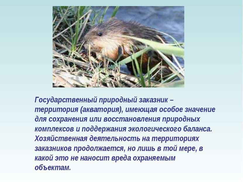 Государственный природный заказник – территория (акватория), имеющая особое з...