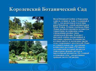 Королевский Ботанический Сад Royal Botanical Garden в Перадении один из лучши...