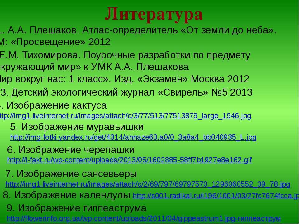 Литература 4. Изображение кактуса http://img1.liveinternet.ru/images/attach/c...