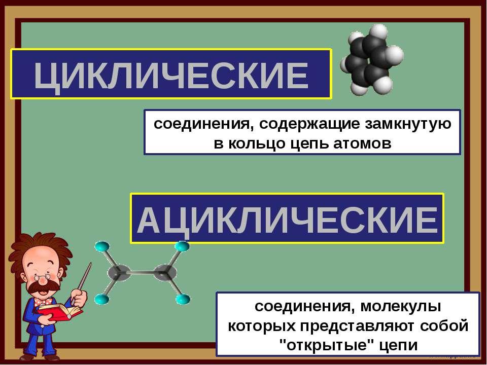 ЦИКЛИЧЕСКИЕ АЦИКЛИЧЕСКИЕ соединения, содержащие замкнутую в кольцо цепь атомо...