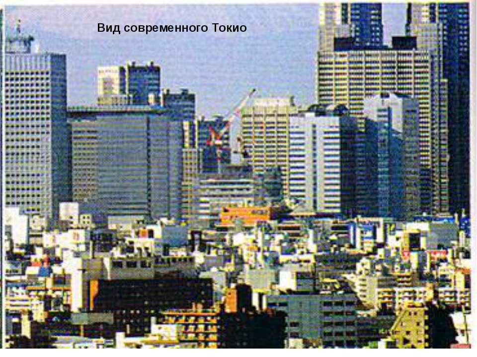 Вид современного Токио