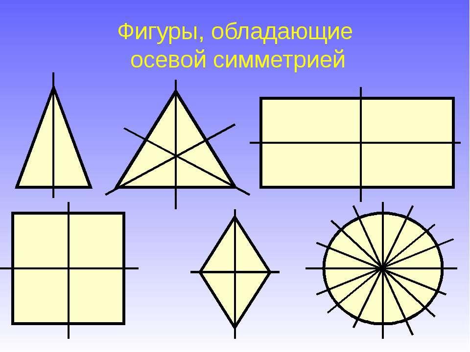 Фигуры, обладающие осевой симметрией