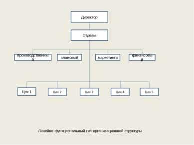 Директор Отделы производственный плановый маркетинга финансовый Цех 1 Линейно...