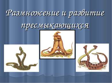 Размножение и развитие пресмыкающихся