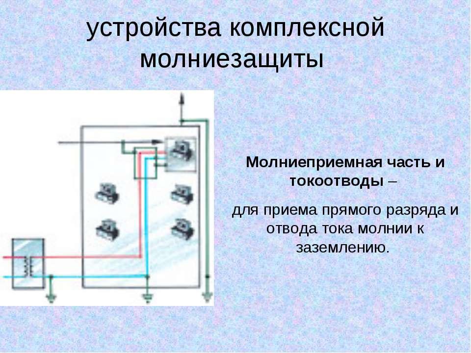 устройства комплексной молниезащиты Молниеприемная часть и токоотводы – для п...