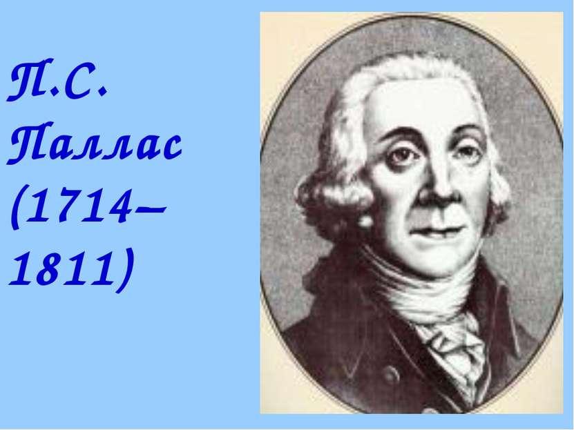 П.С. Паллас (1714–1811)