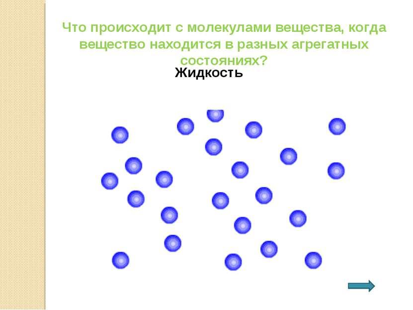 Что происходит с молекулами вещества, когда вещество находится в разных агрег...