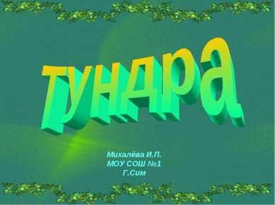 Михалёва И.П. МОУ СОШ №1 Г.Сим