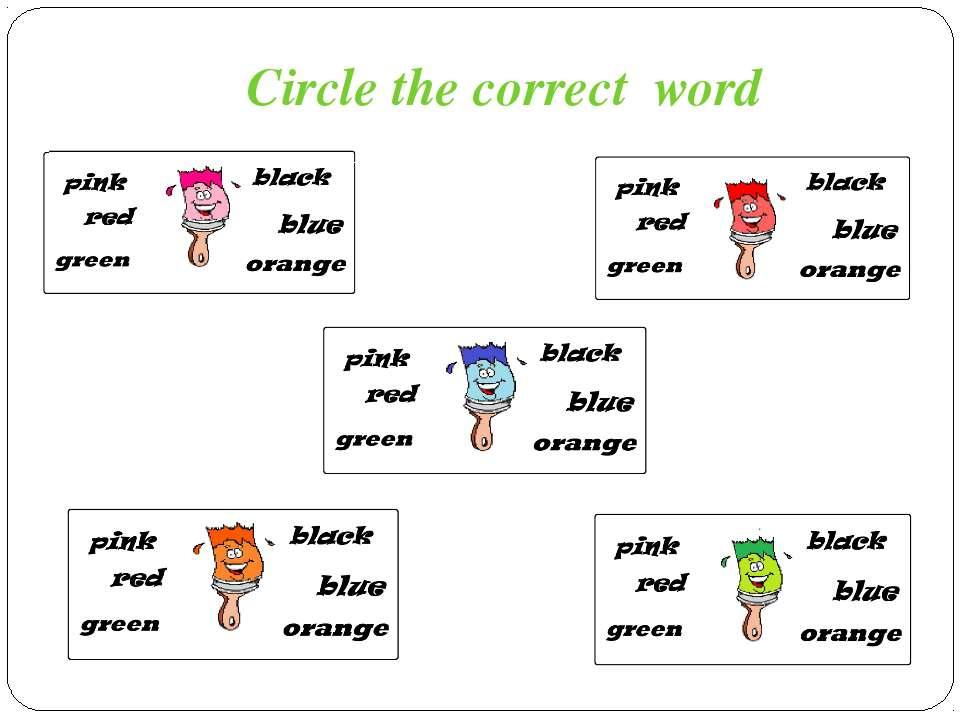 Circle the correct word