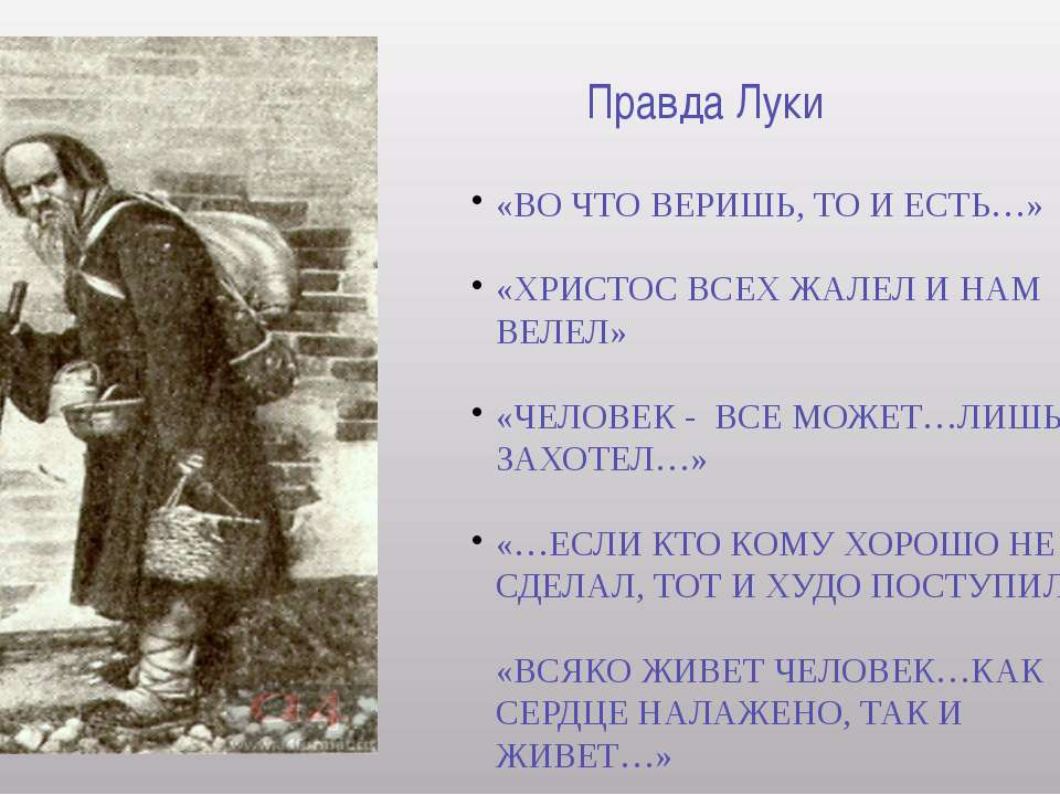 Монолог Сатина о Человеке