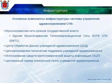 Инфраструктура Мультисервисная сеть органов государственной власти Единая Мул...