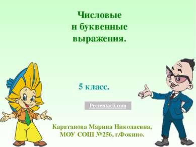 5 класс. Каратанова Марина Николаевна, МОУ СОШ №256, г.Фокино. Числовые и бук...