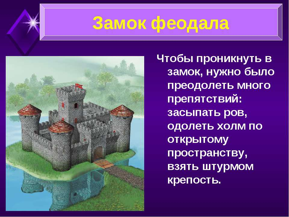 Чтобы проникнуть в замок, нужно было преодолеть много препятствий: засыпать р...
