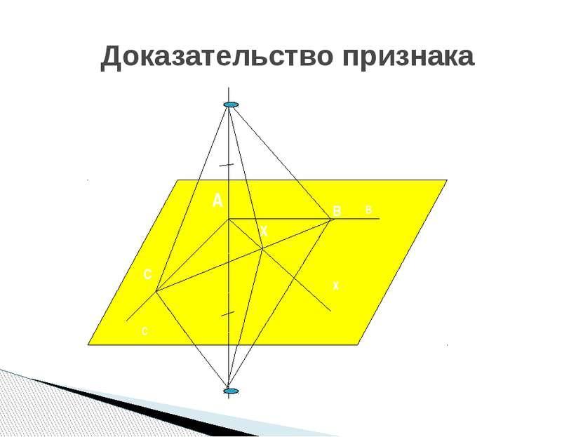 Доказательство признака в с а А х В Х С А2 А1