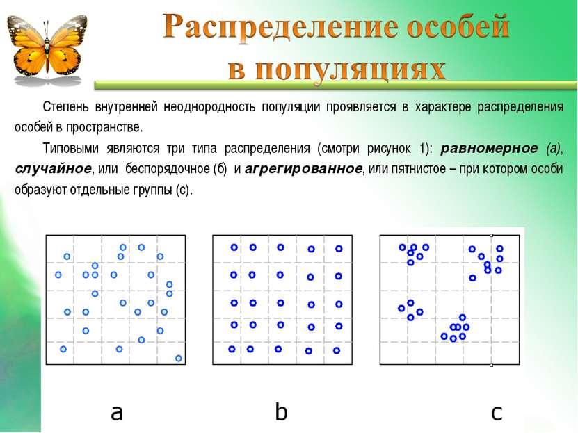 Степень внутренней неоднородность популяции проявляется в характере распредел...