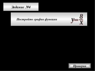 Задание №4 Постройте график функции Проверка