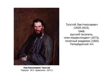 Толстой Лев Николаевич (1828-1910), граф, русский писатель, член-корреспонден...