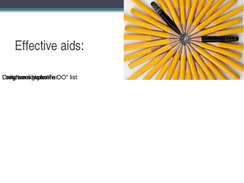 Effective aids: