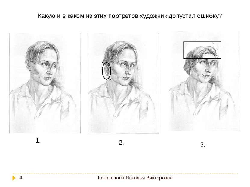 Боголапова Наталья Викторовна * Какую и в каком из этих портретов художник до...