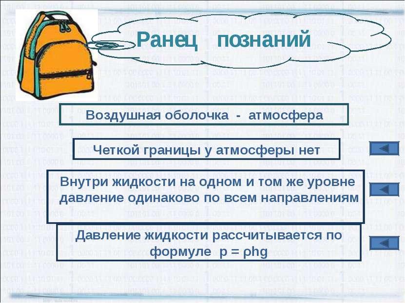Воздушная оболочка - атмосфера Четкой границы у атмосферы нет Давление жидкос...