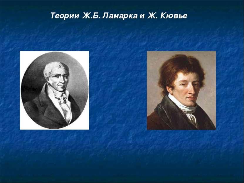 Теории Ж.Б. Ламарка и Ж. Кювье
