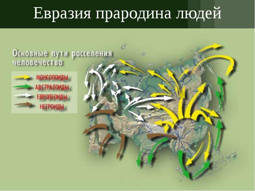 Евразия прародина людей