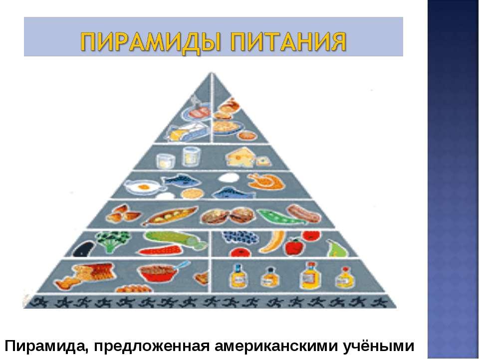 Пирамида, предложенная американскими учёными
