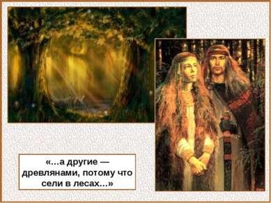 «…а другие — древлянами, потому что сели в лесах…»